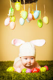 Baby Easter bunny Stock Images