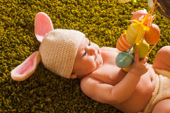 Baby Easter bunny Stock Photos