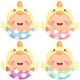 Baby in Easter Chick Costume Royalty Free Stock Image