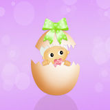 Baby in Easter egg Royalty Free Stock Photography