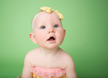 Baby in Easter Outfit Royalty Free Stock Photography