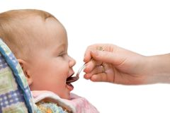 Baby eat on isolated background Royalty Free Stock Image