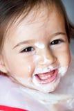 Baby eating Royalty Free Stock Photos