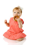 Baby eating Royalty Free Stock Photos