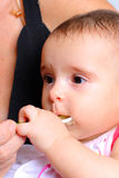 Baby eating Royalty Free Stock Photography