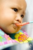 Baby eating disorder Royalty Free Stock Images