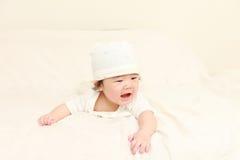 Baby in een goede stemming Stock Foto