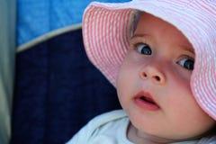 Baby in een Hoed Royalty-vrije Stock Afbeelding
