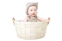 Baby in een hoed. Stock Foto's