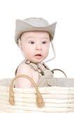 Baby in een hoed Royalty-vrije Stock Afbeeldingen