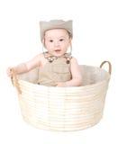 Baby in een hoed. Stock Afbeelding