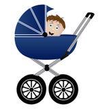 Baby in een kinderwagen vector illustratie