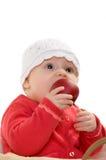 Baby in een mand. Royalty-vrije Stock Afbeelding