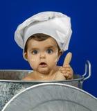Baby in een pot Royalty-vrije Stock Afbeeldingen