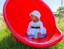 Baby in een Speelplaats Royalty-vrije Stock Afbeeldingen