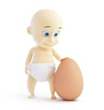 Baby egg Stock Images