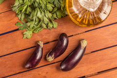 Baby Eggplant. Mini Royalty Free Stock Photos