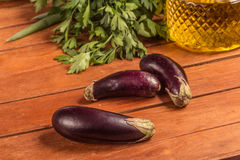 Baby Eggplant. Mini Stock Image