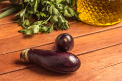 Baby Eggplant. Mini Royalty Free Stock Image