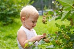 Baby ein Jähriges draußen Lizenzfreie Stockfotografie