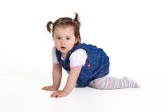 Baby ein Jähriges kriecht Lizenzfreie Stockbilder