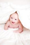 Baby in einer Decke Lizenzfreies Stockfoto