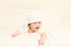 Baby in einer guten Laune Stockfoto