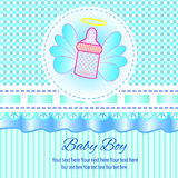 Baby-Einladungs-Karte Stockbild