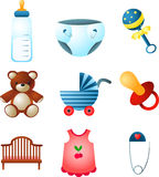 Baby elements Stock Image
