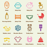 Baby elements Stock Images
