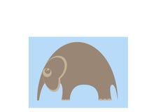 Baby Elephant. Cute baby elephant in cartoon style Royalty Free Stock Photo