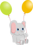 Baby Elephant with Balloons Royalty Free Stock Photography