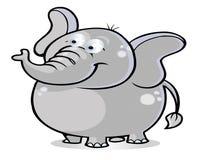 Baby elephant cartoon. Cute baby elephant cartoon illustration Royalty Free Stock Photos