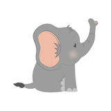 Baby elephant cartoon. Icon vector illustration graphic design Royalty Free Stock Images