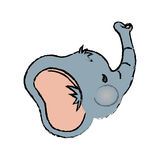 Baby elephant cartoon. Icon vector illustration graphic design Stock Images
