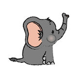 Baby elephant cartoon. Icon vector illustration graphic design Stock Photo