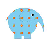 Baby elephant crafts with flowers Royalty Free Stock Photos