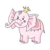 Baby elephant pink-01 Stock Image