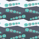 Baby elephant seamless pattern vector illustration Stock Photography