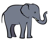 Baby Elephant (Vector illustration) Royalty Free Stock Images