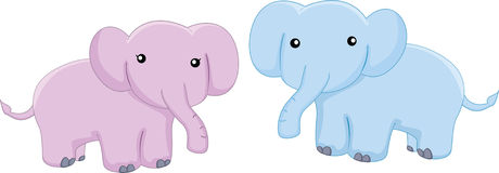 Baby elephants. Cartoon illustration of a elephants Royalty Free Stock Photos