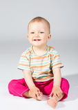 Baby eleven months. Infant age eleven months, in studio royalty free stock photography