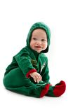 Baby in elf-costume Royalty Free Stock Photo