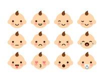 Baby Emoticons Stock Photo