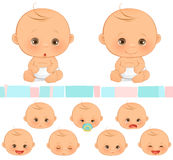 Baby Emotions. A set of cute baby emotions Stock Image