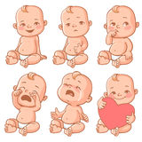Baby emotions set Stock Images