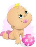 Baby en bal vector illustratie