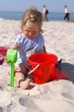 Baby en beach4 Royalty-vrije Stock Afbeelding