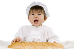 Baby en brood Stock Afbeeldingen