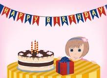 Baby en cake Stock Afbeeldingen